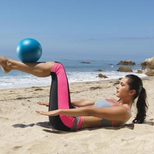 pilateshundred with ball